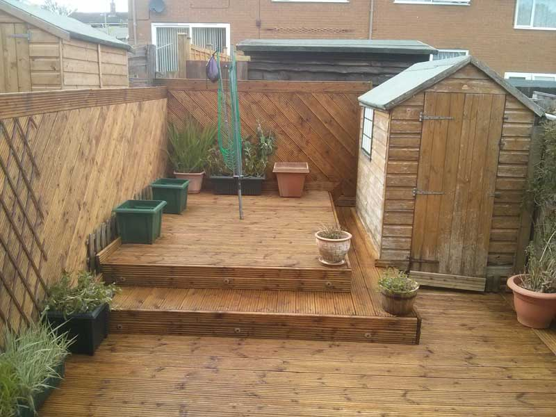 decking cleaning oiling