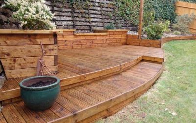 Upkeep of decking devon surface care for Garden decking examples