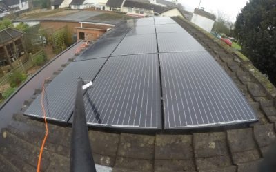 Solar panel cleaning in Devon